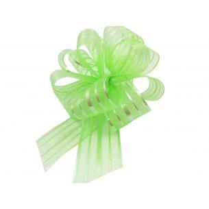 green pom pom bow