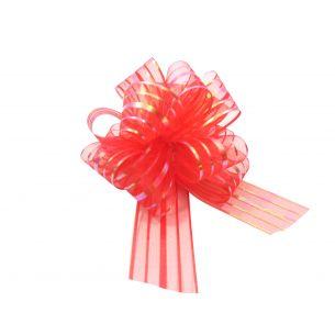 red pom pom bow