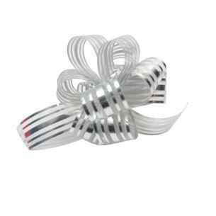 silver pom pom bows small