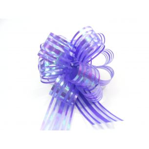 purple pom pom bow small
