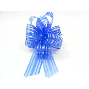 Deep Blue Pom Pom Bow Small x 1