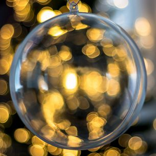 Fillable Clear Bauble (140mm)