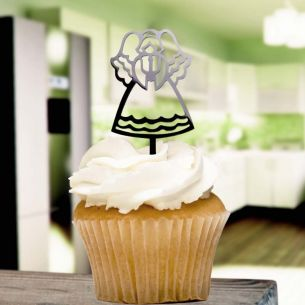 Black Angel Cupcake Toppers x8