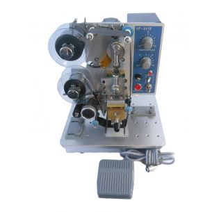Foot Operated Hot Stamp Ribbon Coding Machine