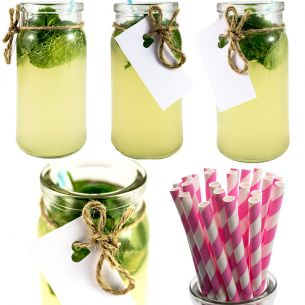 Glass Cocktail Jars x12