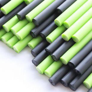 Ghoulish Green Halloween Plastic Lollipop Sticks