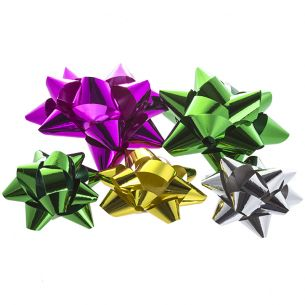 Assorted Metallic Bows x5