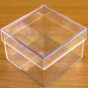 Square Shaped  Fillable Transparent Plastic Container