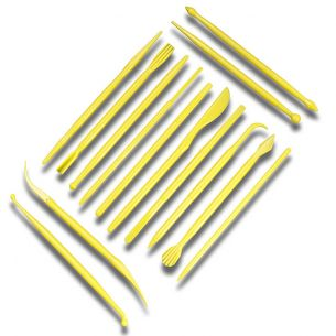 TC2004	14 Piece Fondant Sculpting Tools Yellow