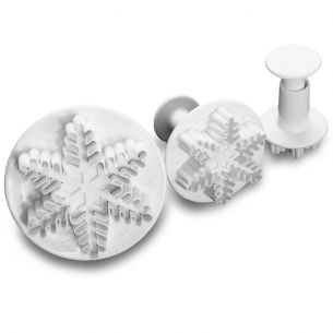 TC2028	Veined Snowflake Fondant Plunger Set
