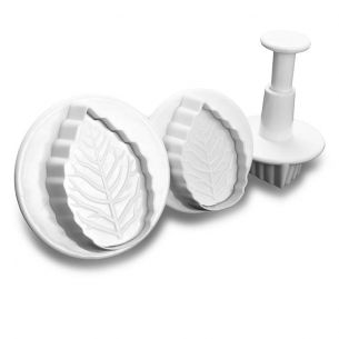 TC2032	Veined Rose Leaf Fondant Plunger Set