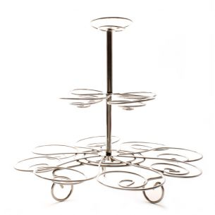 3 Tier Silver Cupcake Stand