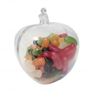 Apple Fruit Fillable Plastic Sweet Container Decoration Crafts
