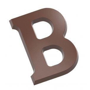 Chocolate Mould Letter B 200 gr