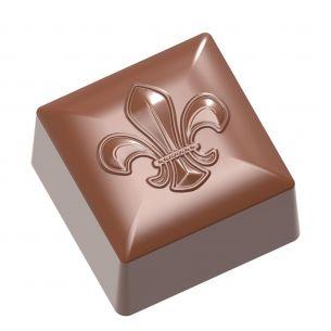 Chocolate Mould Square Fleur De Lys