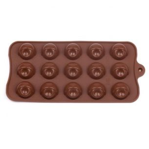 Half Ball With Nut Hole Silicone Mould