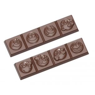 Chocolate Mould Strip Smiley 2 Fig.