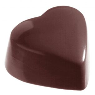 Chocolate Mould Heart High Flat