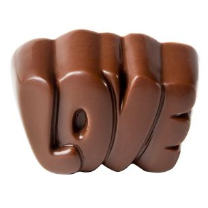 "Chocolate Mould ""Love"" Praline"