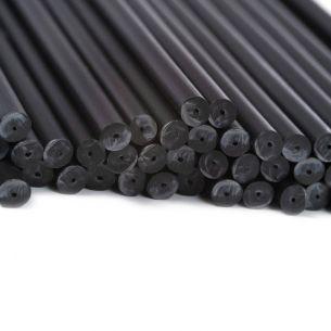 140mm x 4.5mm Black Plastic Lollipop Sticks x 3000 (NS)