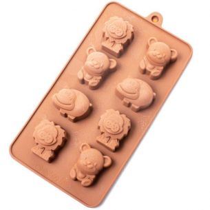 Lions, Bears & Hippos Silicone Mould