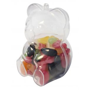 Teddy Bear Fillable Plastic Sweet Container Crafts Packaging