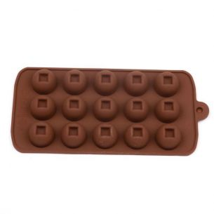 ball with square nut hole silicone chocolate mould