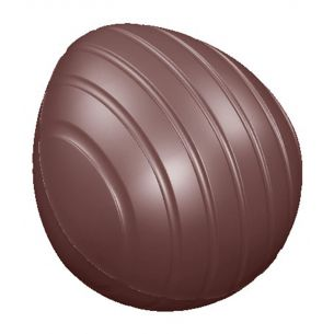 Chocolate Mould Egg Primitive Striped 52 mm
