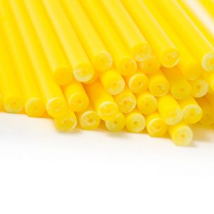 Yellow Plastic Lollipop Sticks