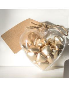 Fillable Heart Shaped Gift Container 80mm