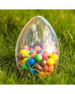 Clear Easter Egg Transparent Plastic Container 140mm