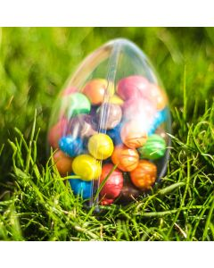 Clear Easter Egg Transparent Plastic Container 100mm
