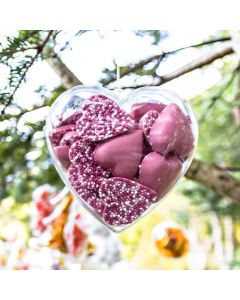 Fillable Heart Shaped Gift Container 100mm